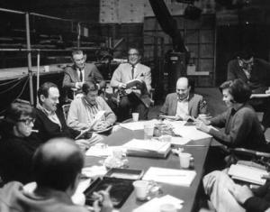 Dick Van Dyke, Mary Tyler Moore, Carl Reiner and cast