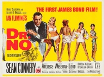 dr no UK quad poster james bond 007