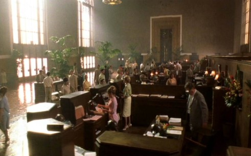 "Bank branch in the Steven Spielberg movie ""Catch Me If You Can"""