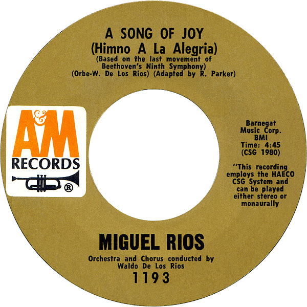 Friday Forgotten Song A Song Of Joy By Miguel Rios It