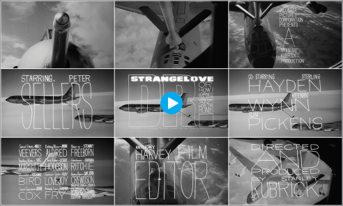 dr strangelove credits - art of the title